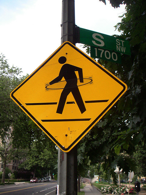 Hula Hoop Person Sign