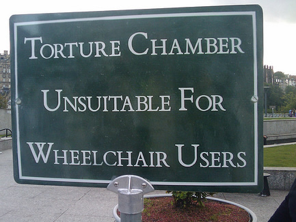 sign: torture chamber-unsuitable