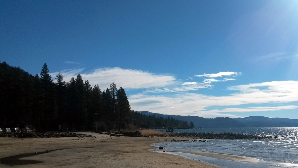 Lake Tahoe beach northside