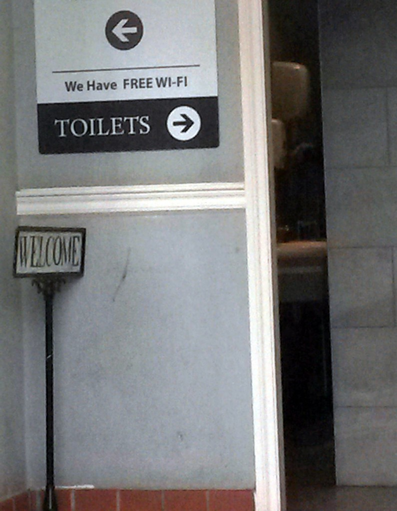 Free wifi in toilet